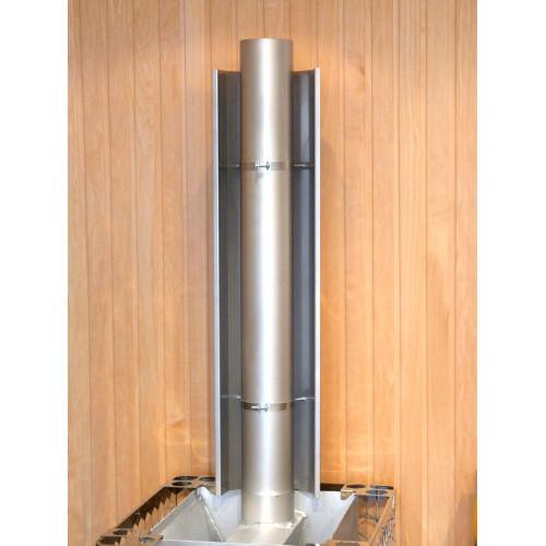 19800-R1, Brandskydd rostfritt rökrörsmonterat, enkel plåt