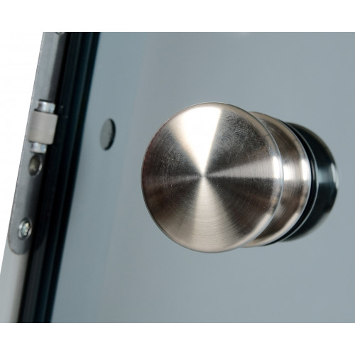 Knopphandtag i metall till bastudörr 70x190