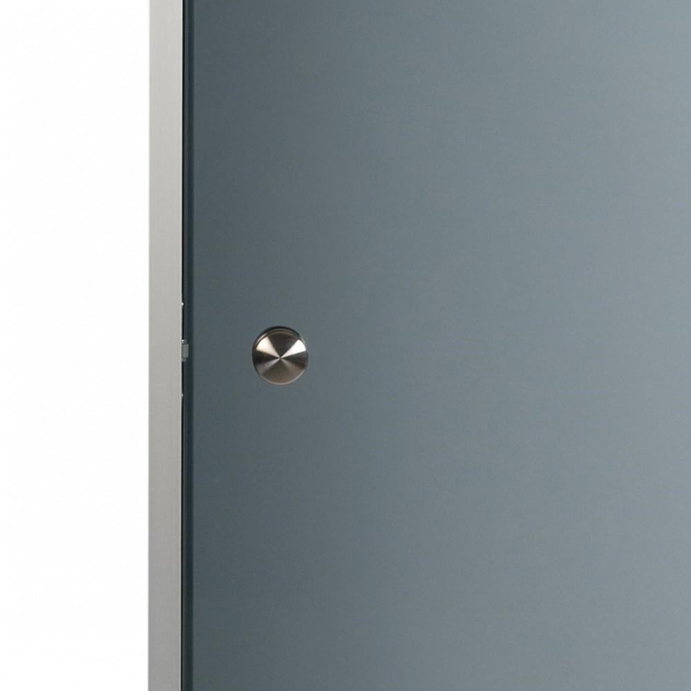 Knopphandtag i metall, tillval till bastudörr med aluminiumkarm