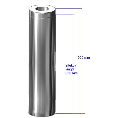 Bastuskorsten förlängning 1000 mm