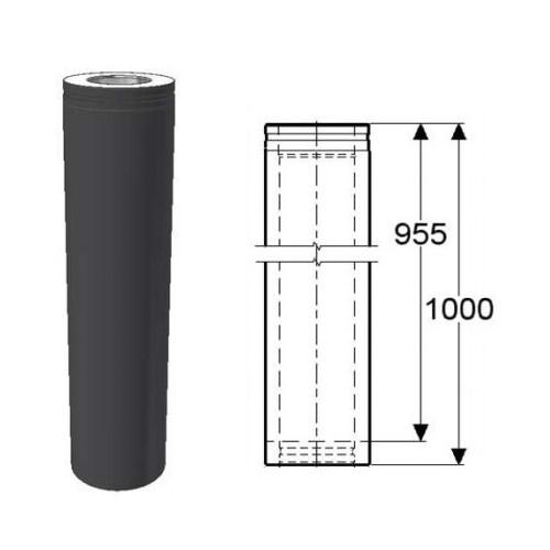 Svart förlängning 955 mm