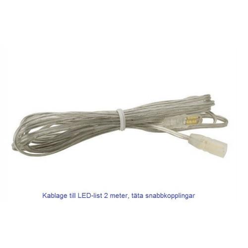 Kablage till LED-list passar för montage inne i bastu