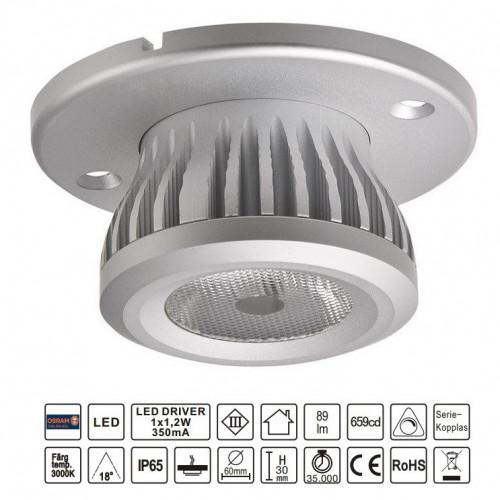 6x LED spotlight med drivdon för bastu och utomhusbruk