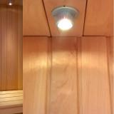 12x LED spotlight med drivdon för bastu och utomhusbruk
