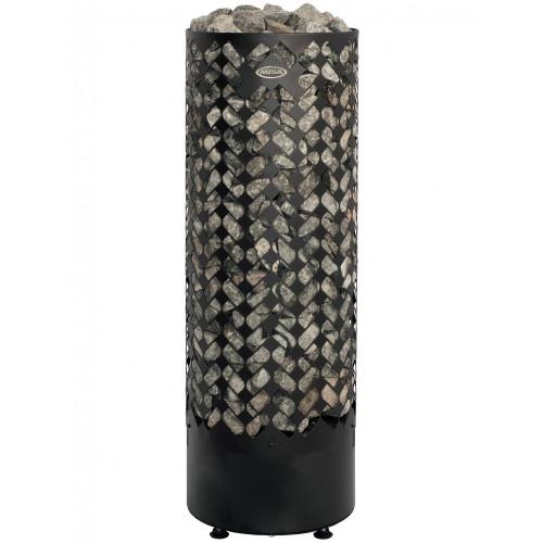 Golvstående elegant pelaraggregat med handhållen kontrollenhet, bastu 6-13 m3
