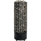 Golvstående elegant pelaraggregat med handhållen kontrollenhet, bastu 5-9 m3