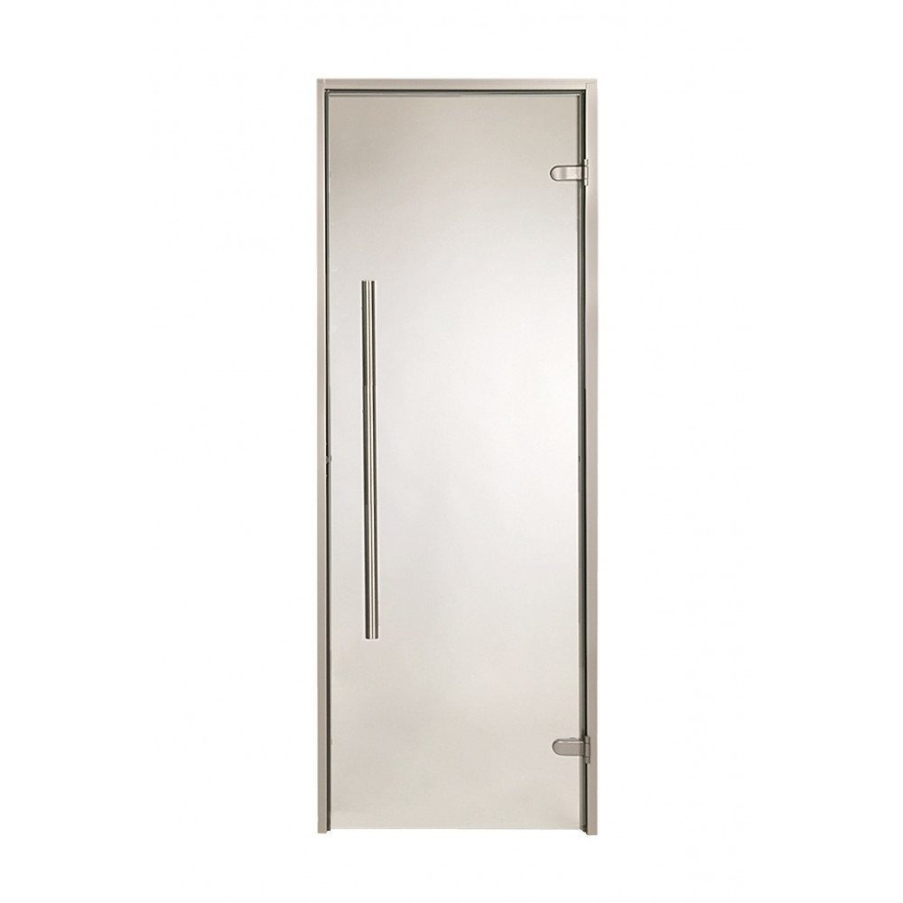 Bastudörr 70x190, Aluminiumkarm med Bronsfärgat glas (fel färg på bild)