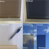 Standard glasfärger till bastudörrar