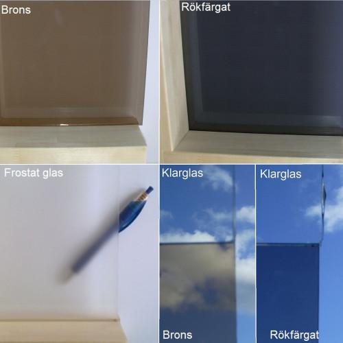 Bastudörr med Aluminiumkarm 80x200 cm, Frostat glas, handtag 900 mm med al-trä insida och rostfritt utsida