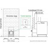 Bastuaggregat tunnelmontage inbyggnadsmått