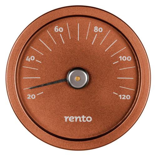 Bastutermometer i kopparfärg