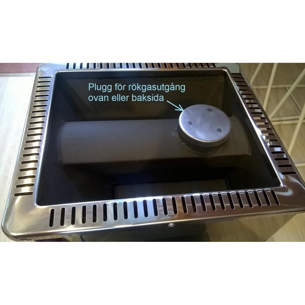 Plugg till rökgasutgång, ovansida eller baksida, passar alla Misa aggregat