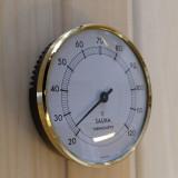 Bastutermometer från sidan, Hygrometer har samma design