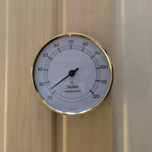 Elegant Bastutermometer, mäter rätt och reagerar snabbt