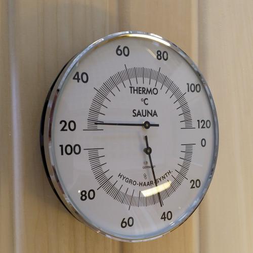 Bastutermometer och Hygrometer dia 132 från sidan