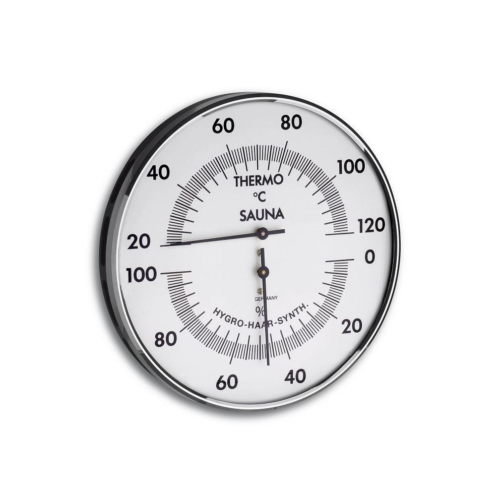 Bastutermometer och Hygrometer dia 132 mm