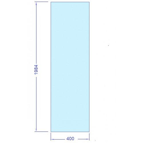 Härdat säkerhetsglas 400 x 1984 mm, t= 8 mm