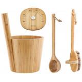 Bambustäva, skopa, termometer, borste