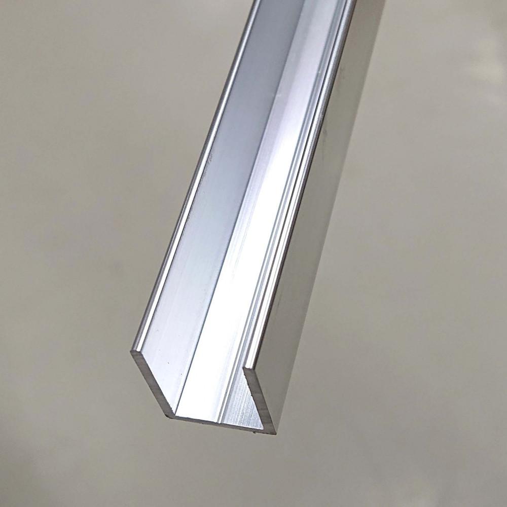 Aluminiumprofil blankoch matchargångjärn, H=20 mm, B=15 mm, Längd 2400-2500 mm (se beskrivning)