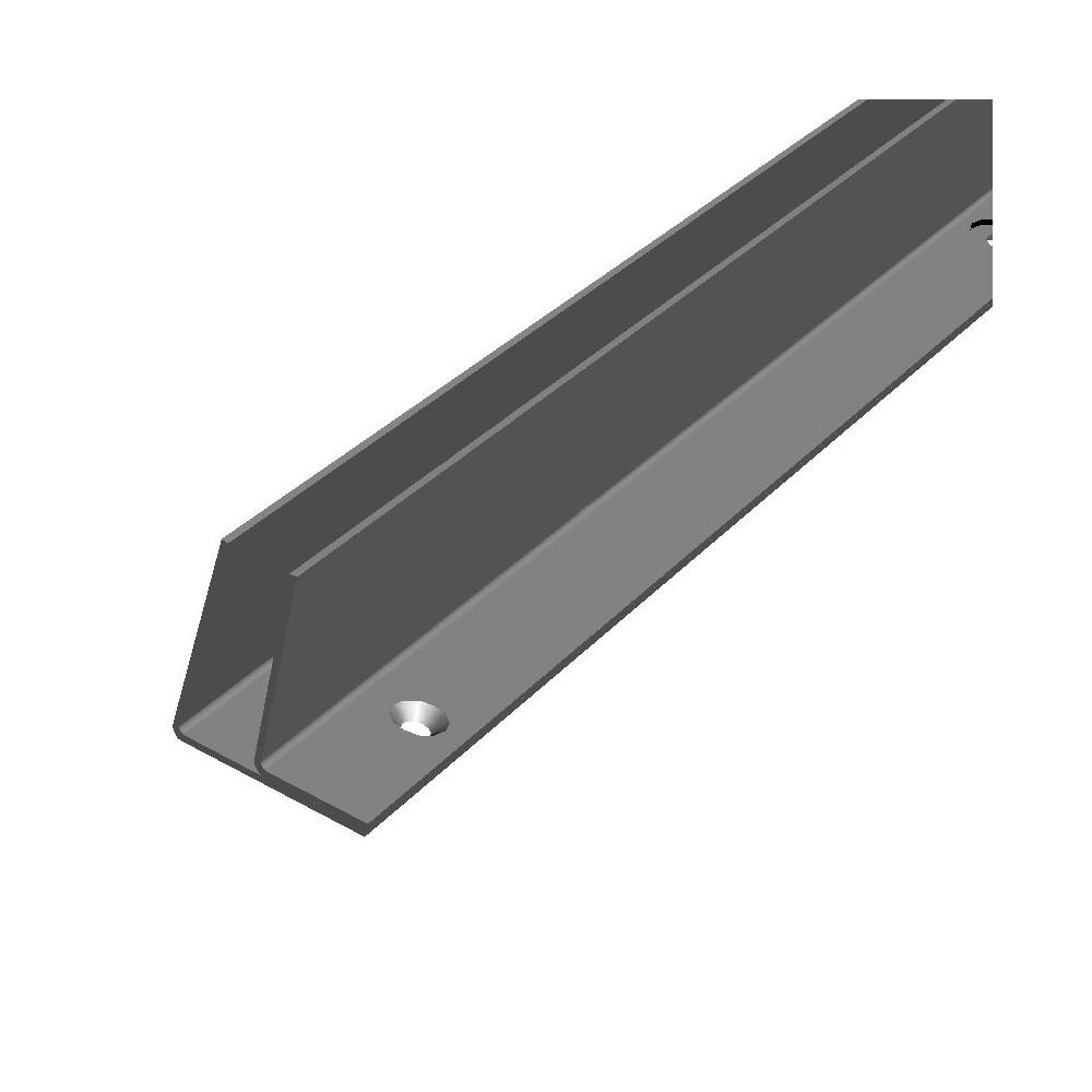 Rostfri dubbel L-profil för montering glasvägg i bastu mm