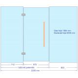 Glasvägg till bastu 2200x2000 mm