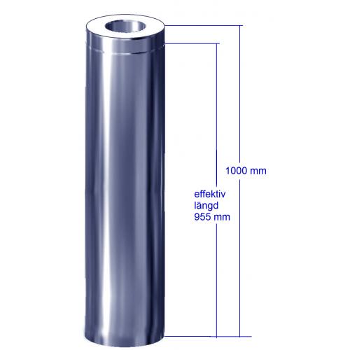 Bastuskorsten svart förlängning 955 mm