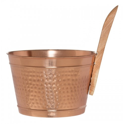 Klassiskt kopparset som vi är van att det ska se ut. Stäva 4 liter med trähandtag och matchande skopa