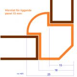 Innerhörnlist i Al lämplig vid montage av tex liggande panel