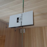Glasvägg 2300x2000 mm till bastu, glasdörr med sidoglas 1500 mm, ett glas till om 800 mm