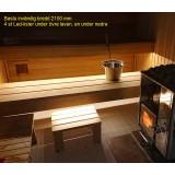2 st LED-list för bastu, inkl drivdon och 1x 2 m kablage, monteras tex under bastulav lite framåtriktad