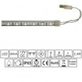4 st LED-list för bastu, inkl drivdon och 2x 2 m kablage, monteras tex under bastulav lite framåtriktad