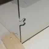 Urtag i sidoglas för gångjärn glas mot glas, bastu montage