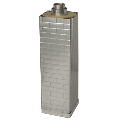 Art 15225, 1000 mm skorstensförlängning till kvadratisk bastu skorsten