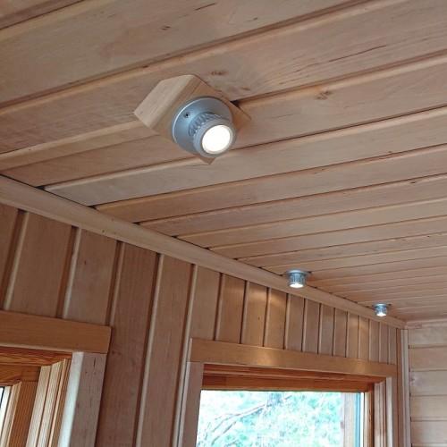 8x LED spotlight med drivdon för bastu och utomhusbruk