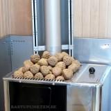 Tetraformade toppstenar med inpräglade kaviteter, passar i alla aggregat, pris/kg