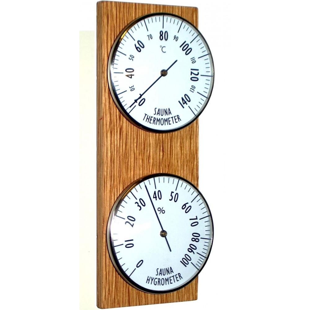 Bastutermometer och Hygrometer, vertikal
