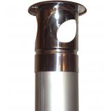 Rostfria oisolerade rökrör 2,5 meter med regnhatt, för dig som bygger skorstenen själv