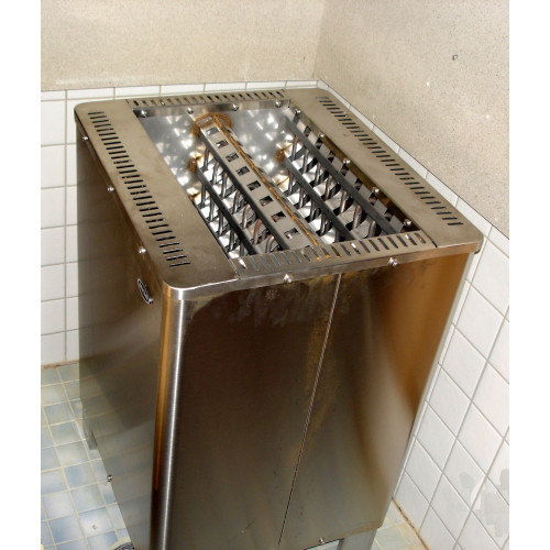 Bastuaggregat 15 kW för kontinuerlig drift i simhallsbastu Klicka för broschyr