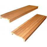 Bastulav i Al, B 580, Lmax 2000, 6+1 brädor 28x90 mm, inkl väggkonsoler