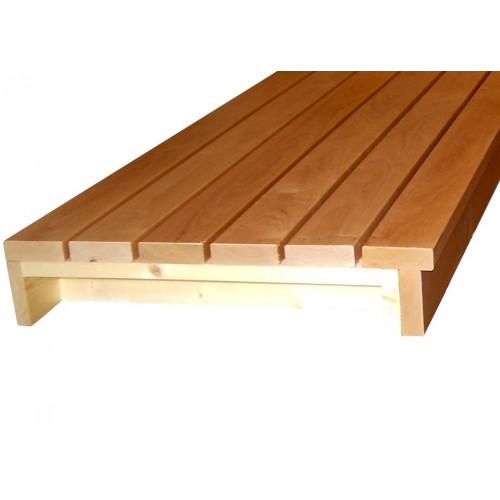 Bastulav 590 mm, tillverkas i längd efter dina önskemål, normalt 10 mm kortare än avstånd mellan väggar.