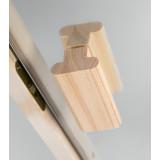 Bastudörr med klarglas och furukarm 92 mm, rejält Abloy gångjärn och rullås, kvalitén gör dem prisvärda