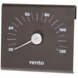 Sober termometer i tjärbrun färg
