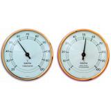 Bastutermometer och Hygrometer med Tysk precision