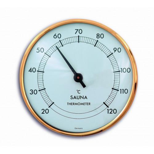 Bastutermometer med vit tavla, Tysk precision
