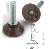 Ställfot M8x30, Längd 65 mm, mått