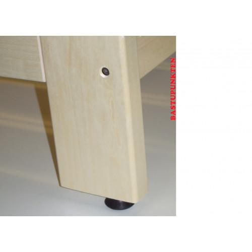Detaljbild ställbar gummifot till bastupall