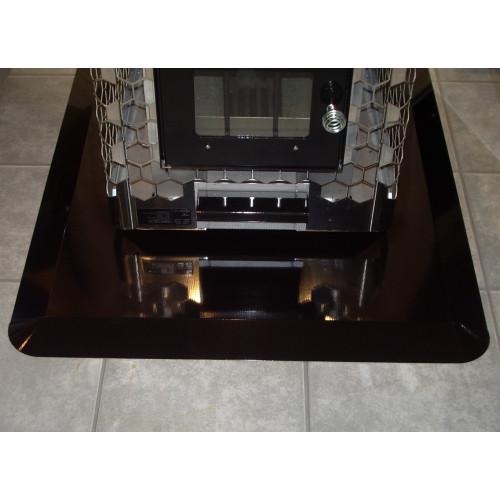 Brandskydd för golv passande vedeldade bastuaggregat