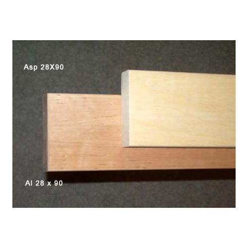 Asp till bastulav 28x90 mm, längd 2,4 m, vacker skön kvalité att sitta på, webbpris avser en bräda